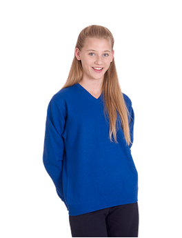 Picture of Childrens V Neck Sweatshirt