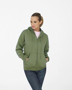 Picture of Ladies Classic Full Zip Hooded Sweatshirt
