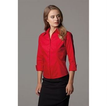 Picture of Women's corporate Oxford shirt ¾ sleeved