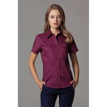 Picture of Women's corporate pocket Oxford blouse short sleeved