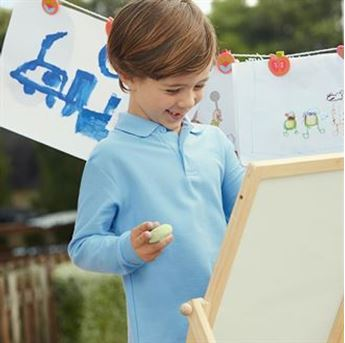 Picture of Kids long sleeve 65/35 polo