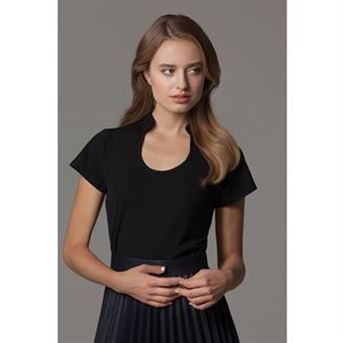 Picture of Women's corporate top keyhole neck