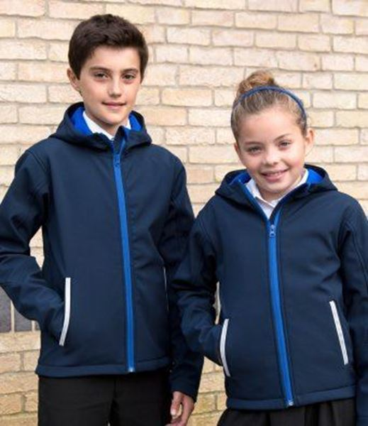 Picture of Kids TX Performance Hooded Soft Shell Jacket