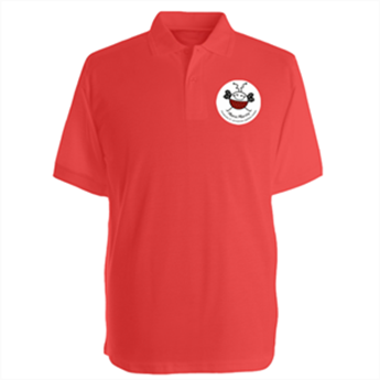 Picture of Adult Cotton Rich Poloshirt with badge