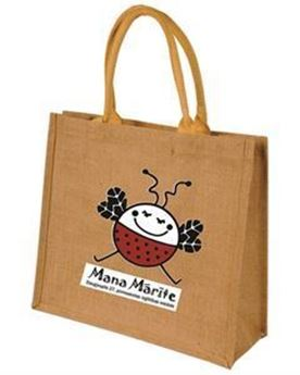 Picture of Jute Shopping Bag with logo (20 litres)