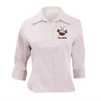 Picture of Women's shirt ¾ sleeved with embroidered logo