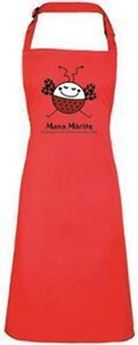 Picture of Red Adult Apron with logo