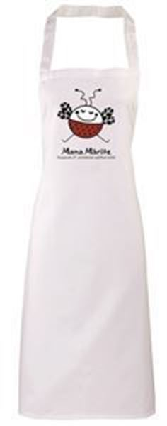 Picture of White Adult Apron with logo