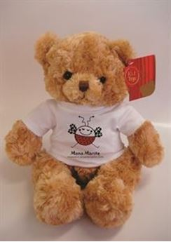 Picture of Bramble Bear 25cm with logo on t-shirt